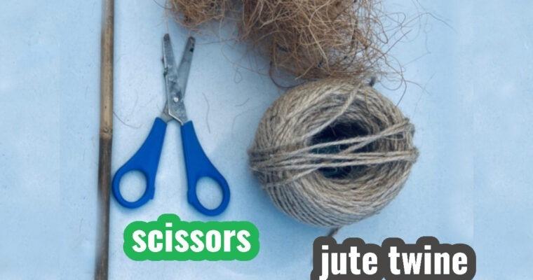 How to make a plant coir stick using coco fibre